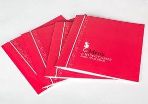 brochure menu pour restaurant