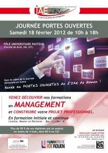 Affiche événementiel pour valoriser l'image de l'IAE de Rouen