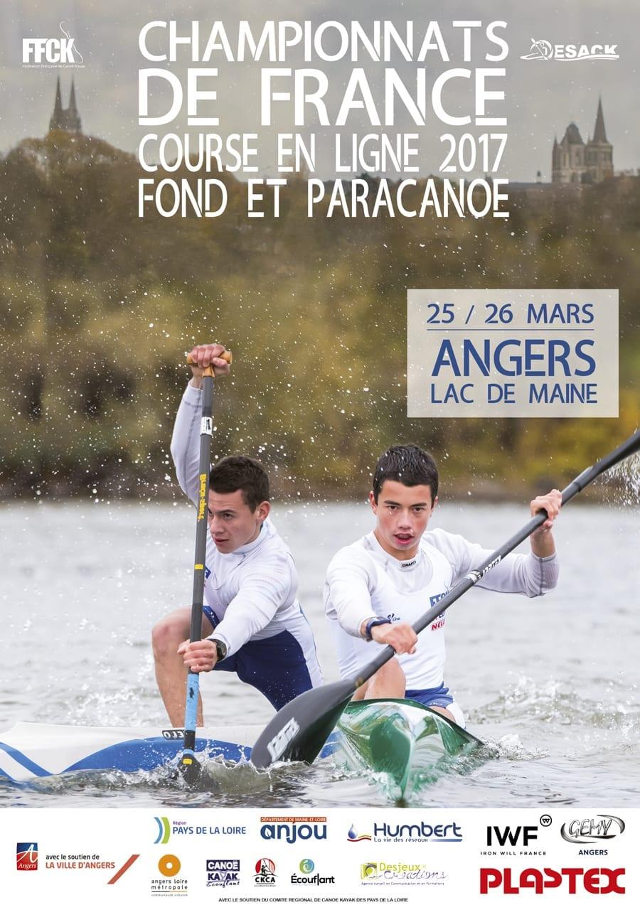 affiche championnats de France course en ligne 2017